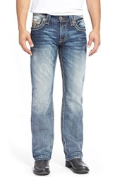 Men's Rock Revival 'Sebastian' Straight Leg Jeans Medium Blue