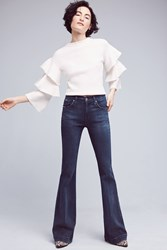 Anthropologie James Jeans Shayebel Flare Low Rise Petite Jeans Denim Light