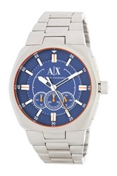 Armani Exchange Men's Analog Quartz Bracelet Watch Metallic