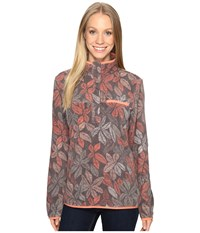 Columbia Mountain Side Printed Pullover Pulse Floral Lines Women's Long Sleeve Pullover Multi