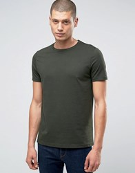Asos T Shirt With Crew Neck In Green Army Green