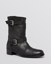 Delman Moto Booties Max Black