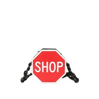 Moschino Shop Inlayed Leather Shoulder Bag