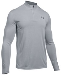 Under Armour Men's Threadborne Performance Quarter Zip Pullover Overcast Grey