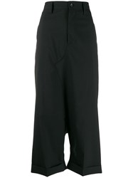 Junya Watanabe Cropped Tailored Trousers Black