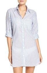 Tommy Bahama Women's Ticking Stripe Cover Up Shirt