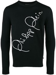 Philipp Plein Sign Sweater Black