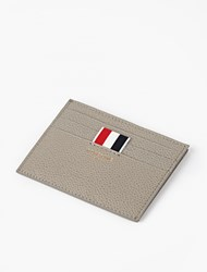 Thom Browne Grey Pebblegrain Leather Cardholder