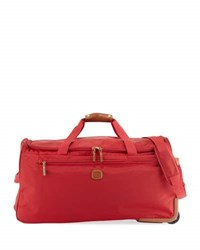 Bric's X Travel Rolling Duffle Bag Red