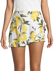 Lucca Couture Ana Faux Wrap Skort Lemon