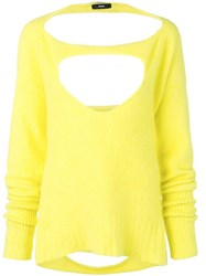 Diesel Cut Out Details Jumper Yellow