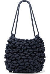 Alienina Kati Woven Cotton Shoulder Bag Navy