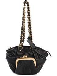 Dolce And Gabbana Vintage Coin Pouch Tote Black