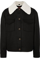 Alexachung Wool And Cashmere Blend Felt Jacket Black