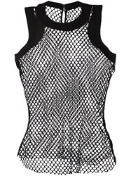 Sacai Fishnet Tank Top Black