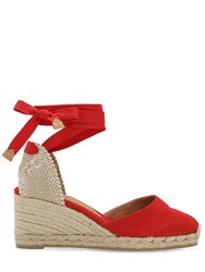 Castaner 60Mm Carina Canvas Espadrille Wedges Red
