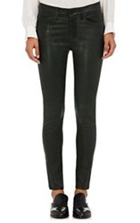 Frame Women's Le Skinny De Jeanne Leather Jeans Colorless