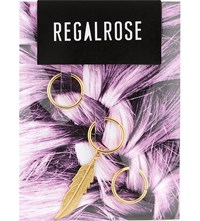 Regalrose Faroe Feather Hair Rings Gold