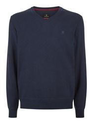 Victorinox Knifesmith V Neck Sweater Blue