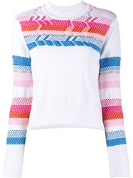 Peter Pilotto Peruvian Printed Knit White