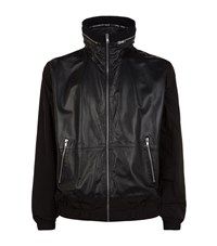 Mcq By Alexander Mcqueen Leather Hooded Jacket Male Black