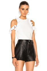 3.1 Phillip Lim Ruffle Sport Tank With Zippers In White