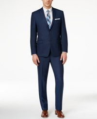 Andrew Marc New York Marc New York By Andrew Marc Men's Slim Fit Solid Blue Suit