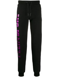 Plein Sport Logo Drawstring Trousers Black