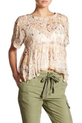 Free People Say You Will Paisley Shirt White