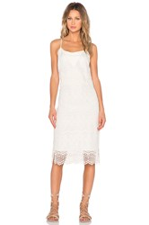 1. State Embroidered Slip Dress Beige