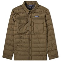Patagonia Silent Down Shirt Jacket Brown