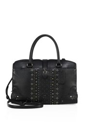 Coach Mercer 24 Bandana Rivets Leather Satchel