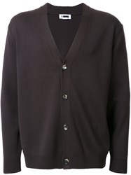 H Beauty And Youth. Dropped Shoulder V Neck Cardigan Brown