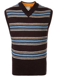 Wooyoungmi Striped Knitted Vest 60