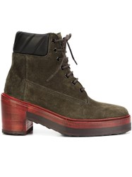 Pierre Hardy Working Girl Boots Green