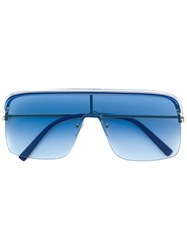 Cutler And Gross Oversized Square Sunglasses Blue