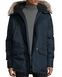 Spiewak Snorkel Coat With Faux Fur Lined Hood Navy