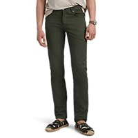 Marco Pescarolo Washed Stretch Cotton Silk Twill Trousers Olive
