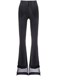 Vera Wang Flared Tailored Trousers Grey
