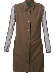 Jean Paul Gaultier Vintage Fitted Shirt Dress Brown