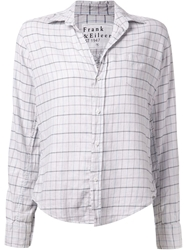 Frank And Eileen 'Barry' Plaid Shirt Grey