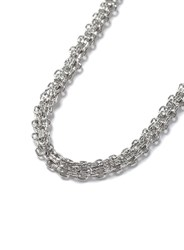 Topman Silver Look Chain Link Necklace