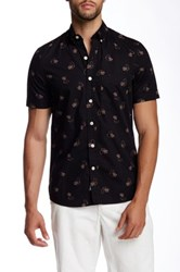 Kennington Cowboy Print Woven Short Sleeve Shirt Black
