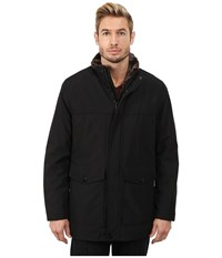 Marc New York Clinton City Rain Midlength W Faux Fur Lining Black Men's Coat