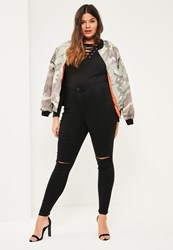Missguided Plus Size Black High Waisted Skinny Jeans