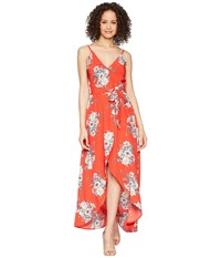 Bishop Young Wild Heart Maxi Wild Heart Print Dress Red