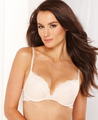 Maidenform Comfort Devotion Embellished Plunge Push Up Bra 9443 Shell