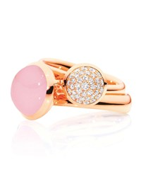 Tamara Comolli Bouton 18K Rose Gold Pave Diamond Ring