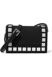 Tomasini Anja Embellished Suede Shoulder Bag Black