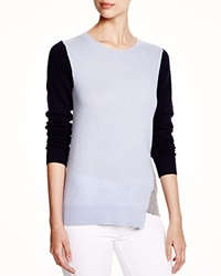 C By Bloomingdale's Asymmetric Color Block Cashmere Sweater
